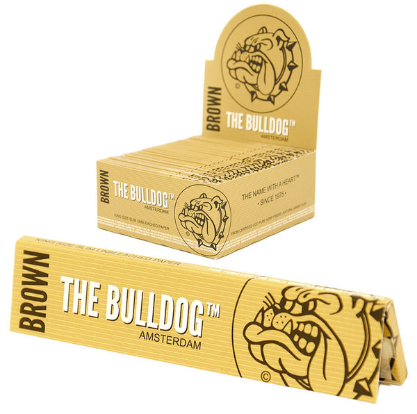 The Bulldog Brown King Size Slim Unbleached Paper