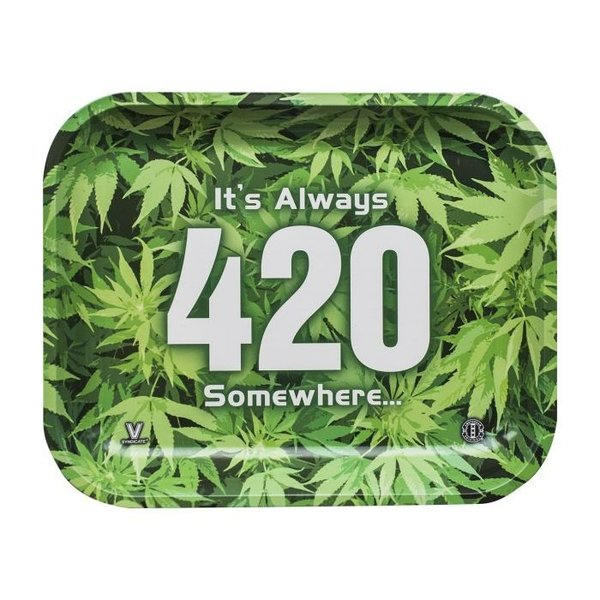 420 Green Rolling Tray ( Large )