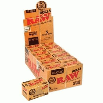 Raw natural unrefined Single Wide 5mt rolls