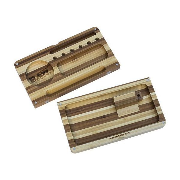 RAW Bamboo Striped Backflip Filling Tray With Magnet